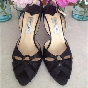 Jimmy Choo slingback stiletto sandals