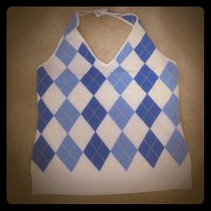 Sweaters - *🙌 SOLD 🙌 * Sexy argyle halter top