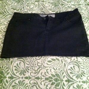 Charlotte Russe Denim - Charlotte russe black denim mini skirt