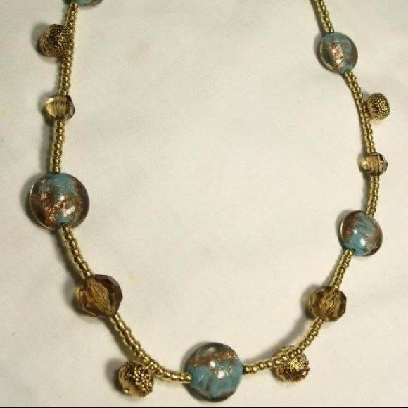 handmade glass bead necklace os from tish s closet on poshmark