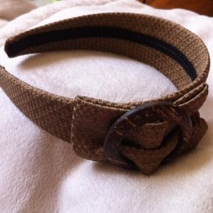 🌸light brown fabric covered headband B33