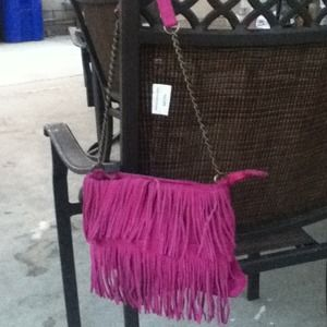 chocolate Handbags - Fringe Purse