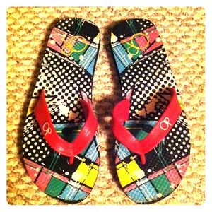 OP Shoes - 🌟REDUCED🌟 Colorful OP flip flops 7.5 8