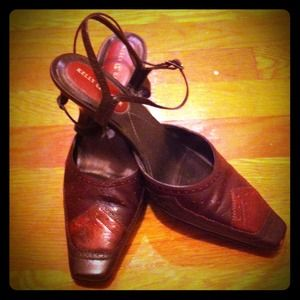 Shoes - Kelly & Katie brown/maroon leather pumps