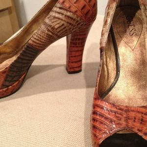Guess Shoes - Guess snake skin shoes! Hot!