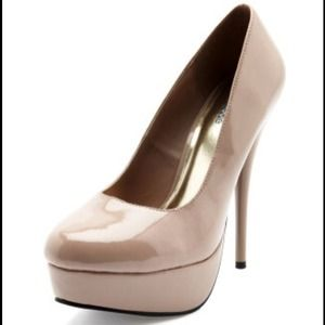 Charlotte Russe Shoes - Nude patent pumps
