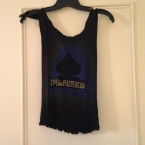 Tops - Cute black tank ties at shoulders, size small