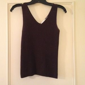Old Navy Tops - ResBrown ribbed sleeveless v, size small