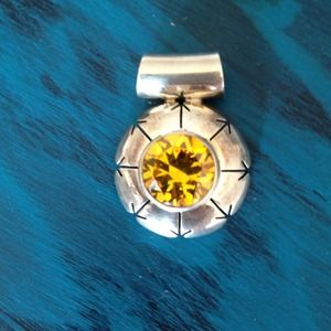 950 sterling/gen citrine