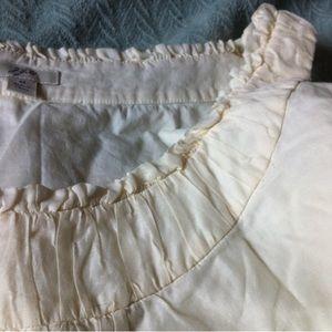 Tops - off-white cotton/silk blend blouse