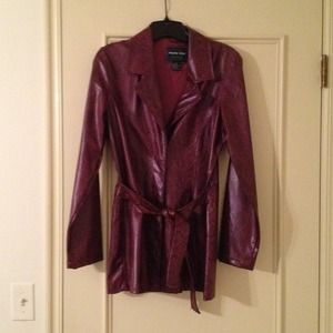 Jackets & Blazers - Red tbrandt78Faux maroon snakeskin jacket, small,