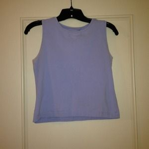 Tops - Small light blue cropped tank.