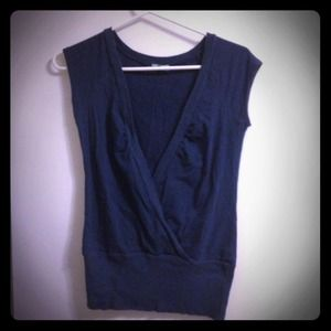 Tops - Blue v neck shirt