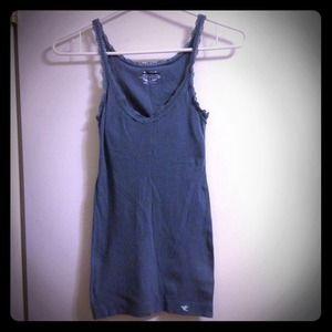 Tops - Blue spaghetti strap v neck shirt