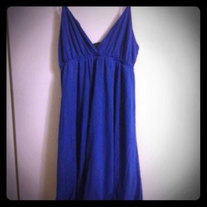Dresses & Skirts - Blue spaghetti strap v neck dress