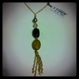 PRICE CUT NWT Cute necklace gold and brown