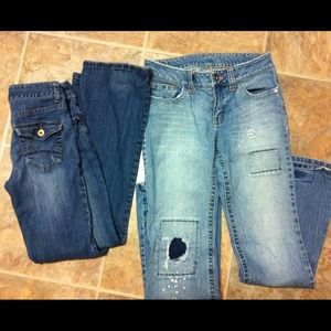Denim - 2 pair of jeans both say 3 but like a 4.
