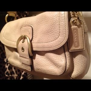 Coach Handbags - Coach Tan/ Beige (Vachetta leather)  purse!