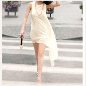 DoubleLW Dresses - Irregular flowing chiffon dress
