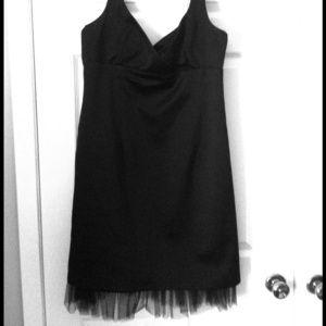LBD with tulle edge
