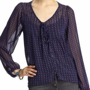 Collective Concepts Tops - **RESERVED** Pretty Purple Polka Dots