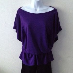 Old Navy Tops - 💝Purple butterfly shirt