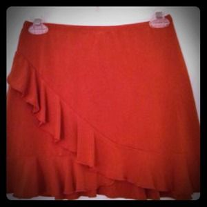 Dresses & Skirts - 💝Orange ruffle skirt