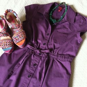 Merona Dresses & Skirts - Merona Purple Button Up Dress