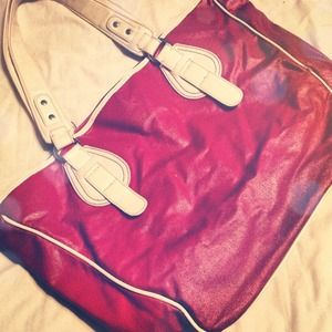 Handbags - Red leather Merona tote