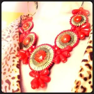 Jewelry - Reserved--Coral Bauble Necklace