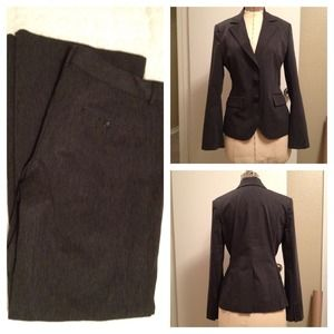 Express Jackets & Blazers - RESERVED Gray Pants Suit by Express + juicy skirt