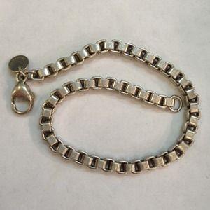 Jewelry - Tiffany box link 7.5 inch bracelet sterling silver