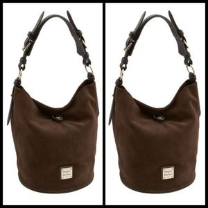 Dooney & Bourke Handbags - Dooney & Bourke Suede Bucket Bag
