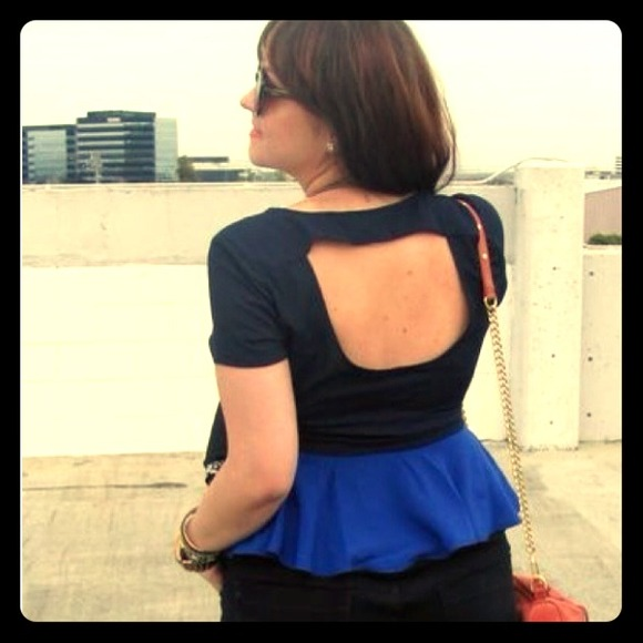 Rory Beca Tops - Sold: Colorblock Peplum Top