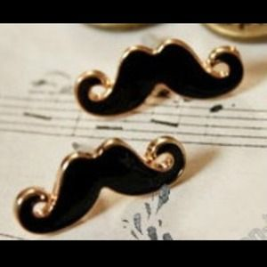 Jewelry - mustache stud earrings