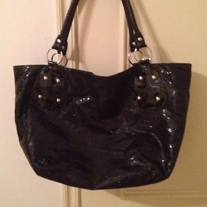Handbags - Nwot😄Big huge fun black sparkly tote