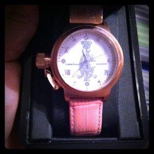 NIB Christian Audigier Rose Gold Watch