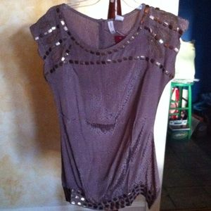 Tops - gorgeous beaded deep mauve top