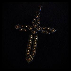 Jewelry - Silver/Marcasite Cross Pendant