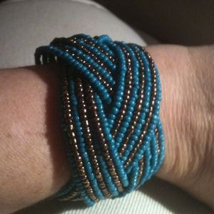 Reduced! Cuff style beaded bracelet