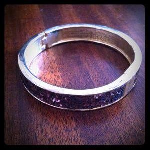 Jewelry - brown glittery goldtone bangle