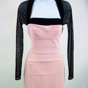 Lillie Rubin Dresses & Skirts - 🎀SEXY PALE PINK BANDAGE DRESS WITH AMAZIN DETAILS