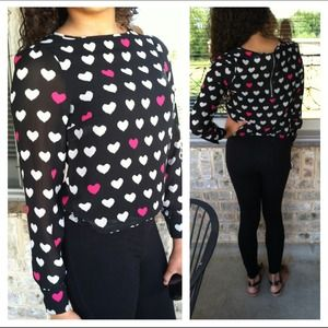 Long sleeved heart blouse