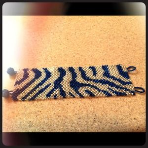 Cache Accessories - SOLD!!!Cache blue zebra bracelet reserved