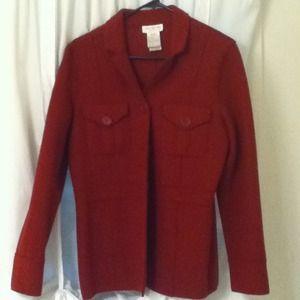 Crimson Red Wool Coat