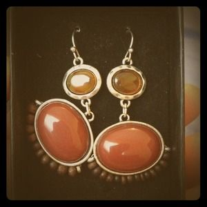 New brownish orange earrings