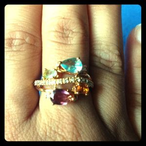New multicolor stone ring