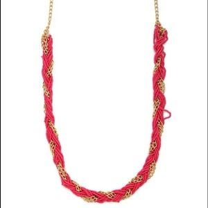 Bauble Bar Jewelry - Bright Pink & Gold Necklace