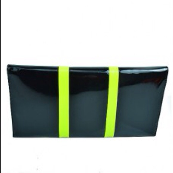 Handbags - Neon Green Envelope Clutch 3