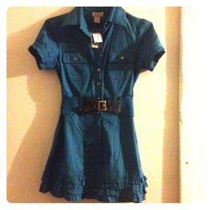 Dresses & Skirts - NWT  TURQUOISE mini dress.
